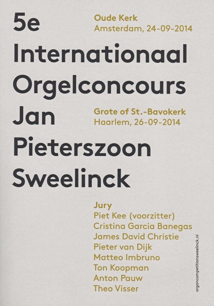 5e Internationaal Orgelconcours JP Sweelinck